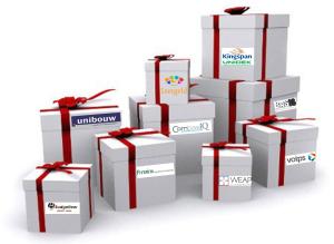 Bedrijven op pakjes